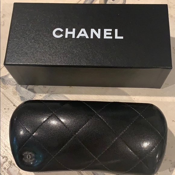 CHANEL Accessories - Chanel Black quilted eyeglass case